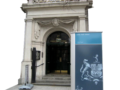 Entrance to Linen Hall Library